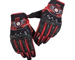 Motocross Perforated Leather Gloves Street Bike Motorcycle Off Road Racing Glove