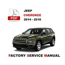 Jeep 2014 2015 2016 Cherokee Oem Workshop Repair Service Manual - $14.95