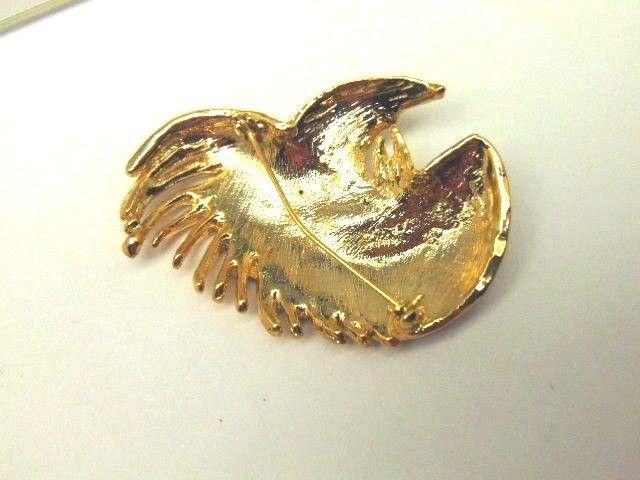 Big Vtg Cockatoo Parrot Pin Bird Cockatiel Austrian Rhinestone Crystal Brooch