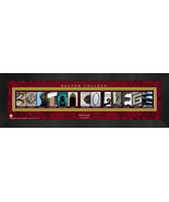 Personalized Boston College Campus Letter Art Framed Print - $39.95