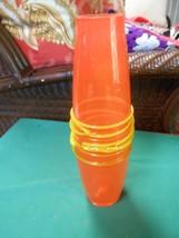 NEW- ART GLASS Orange VASE...................SALE - $8.91