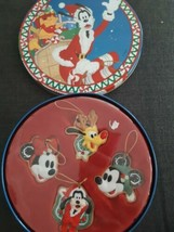 Disney Mickey Mouse and Friends Ornament Set Tin Container Pluto Goofy Minnie - $36.58