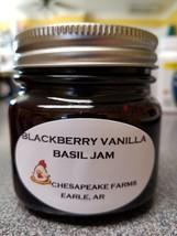 Blackberry Vanilla Basil Jam 4 Oz Size Arkansas Grown/Made Organic Great... - $3.00