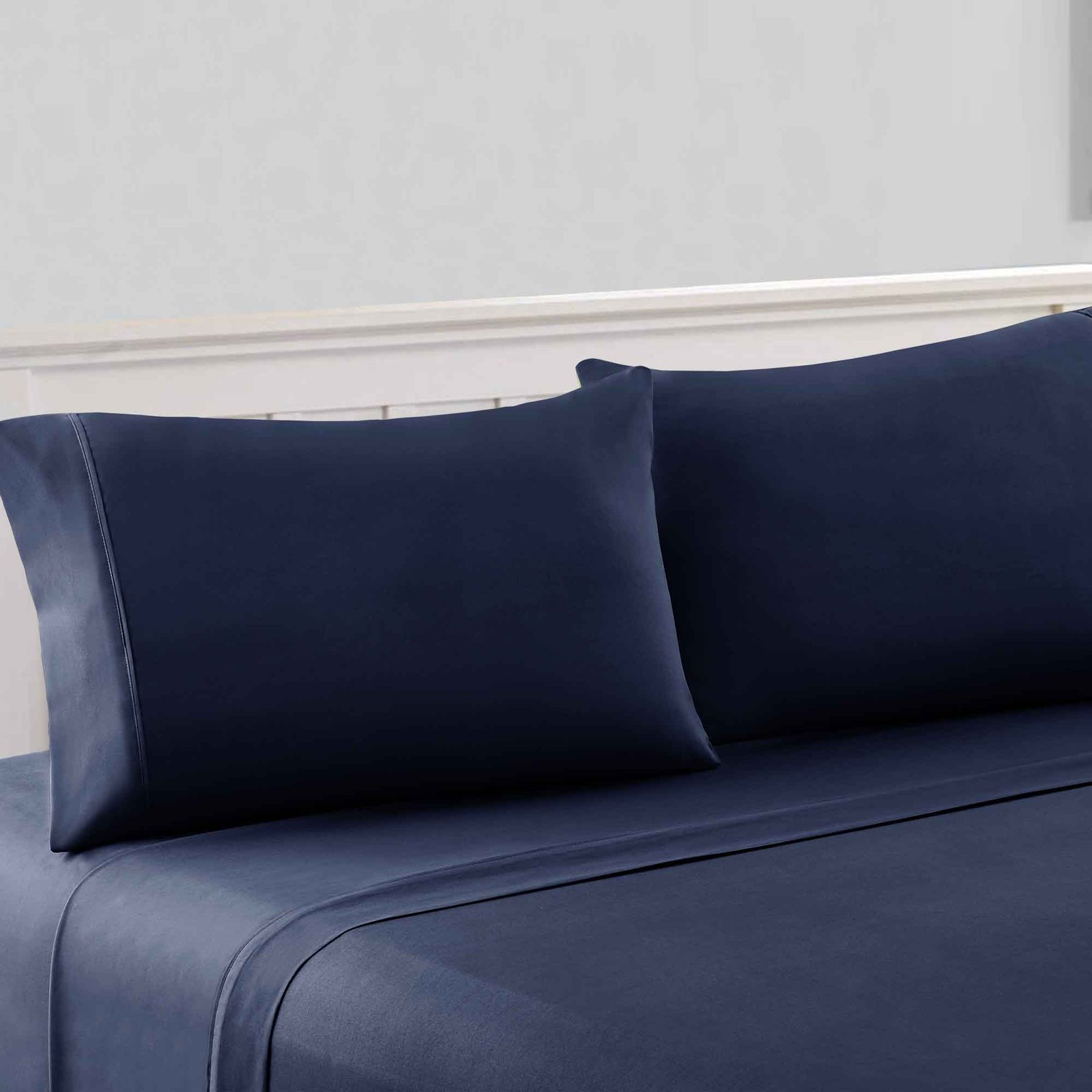 Primary image for Bezons 4 Piece California King Microfiber Sheet Set with 1800 Thread Count, Navy