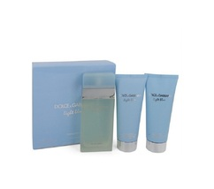 Light Blue by Dolce & Gabbana 3 Pc Gift Set EDT Spray Body Cream or Show... - $36.98+