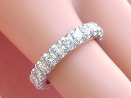 VINTAGE 1.84ctw BRILLIANT DIAMOND WHITE 18K GOLD ETERNITY BAND RING 1950... - $2,173.05