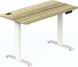 SHW Electric Height Adjustable Computer Desk, 48 x 24 Inches, Oak (48-in... - $353.84