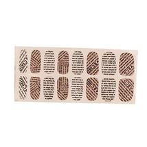 [Set of 2]Easily Apply 12 PCS Artificial Lucency Nail Polish Sticker, Letters