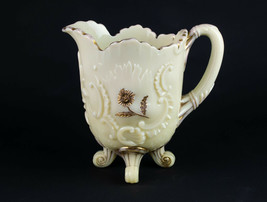 Northwood Louis XV Custard Water Pitcher with Gold Decor, Antique EAPG c... - $39.20