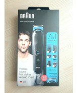 Braun MGK3245 Mens 7 in 1 Beard & Face Trimmer Shaver & Hair Clipper Sty... - $49.40