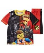 Batman Lego Movie 2 Boys Sleepwear Shirt & Shorts X-Small (4-5) Red & Bl... - $15.83