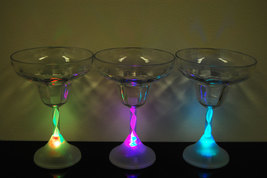 4 Pack 8 Mode Color Changing LED Margarita Glasses - $18.95