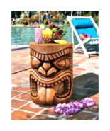 The Lono (Tongue) Grand Tiki Sculptural Table - $157.99