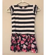 Gymboree Girls 6 Dress Striped Floral Blue Nautical - $9.89