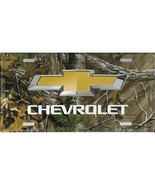 chevrolet bow tie woodland auto car logo metal license plate made in usa - $28.49