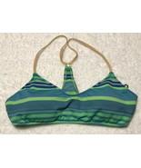 RALPH LAUREN POLO Turquoise & Lime Playa Stripe Scoop OTS Bikini Top Sz ... - $31.35