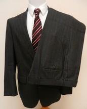 Kilgour French & Stanbury Mens Suit 40R Charcoal Plaid Pants 38 X 30  - $42.52