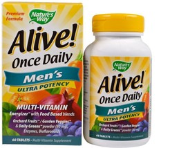 2 Pack Once Daily Men's Health Multi-Vitamin Multi-Mineral 60 Tablets Na... - $41.36