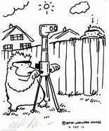 Ape with Periscope Annoys the Neighbors. Original Cartoon Art by Walter ... - $9.53