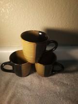3) SANGO GOLD DUST BLACK  COFFEE MUGS / CUPS  --FREE SHIP--VGC - $28.80