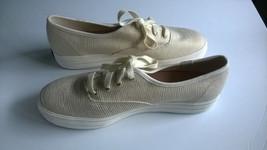 KEDS Women's Size 8 Gold-Tinsel Lines Fashion Tennis Shoes Excellent Con... - $39.59