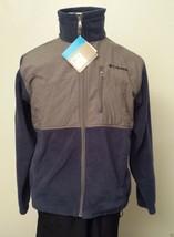 Columbia Full Zip Fleece Jacket Men Size M Overlaid Upper Part and Shoul... - $58.15