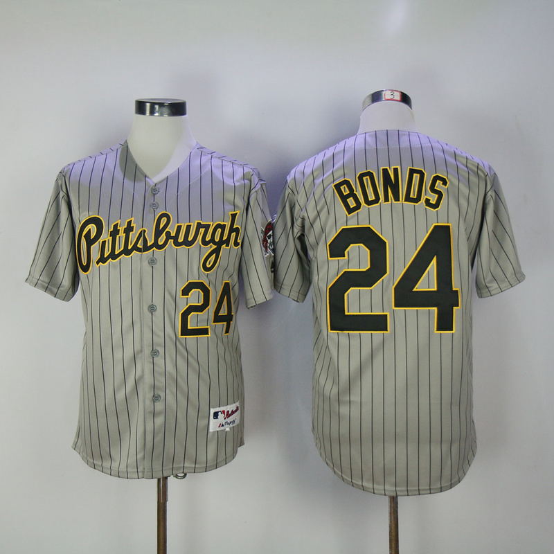 MLB Pittsburgh Pirates #24 Barry Bonds Cool Base Baseball Jersey Size M-3XL for sale  USA