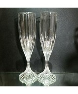 2 (Two) MIKASA PARK LANE Cut Lead Crystal Fluted Champagne Glasses DISCO... - $36.09