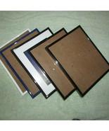 FRAMES FIVE  8 x 10 -1 white 1 blue 3 black plastic (Nclst B) - $14.03