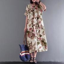 2018 ZANZEA Women Retro Floral Printed Summer O Neck Short Sleeve Loose Casual C - $42.42