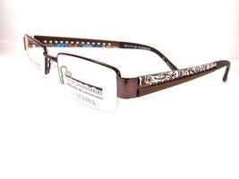Bulova Serpa Gunmetal Interchangeable Eyeglasses Women Frames 48-17-130 - $59.39