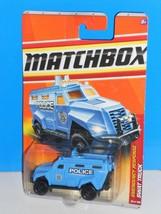 Matchbox 2011 Emergency Response #59 SWAT Truck Blue Police Special Resp... - $4.00