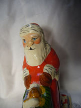 Vaillancourt Folk Art Gingerbread Santa in Sleigh with Angel Doll Signed  image 5