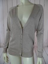 TALBOTS Sweater S NEW Gold Sparkle Viscose Poly Nylon Metallic Stretch Knit CHIC - $48.51