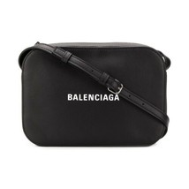 NEW Balenciaga Black Everyday Logo XS Leather Camera Crossbody Shoulder Bag - $828.93