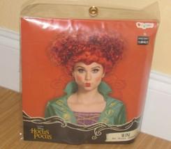 Disney Hocus Wini Sanderson Costume Halloween Parrucca Donna Ragazzi Rosso - $31.48