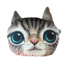 George Jimmy 3D Cartoon Head Shape Pillow Car Sofa Chair Back Cushion-Cat - $423,56 MXN