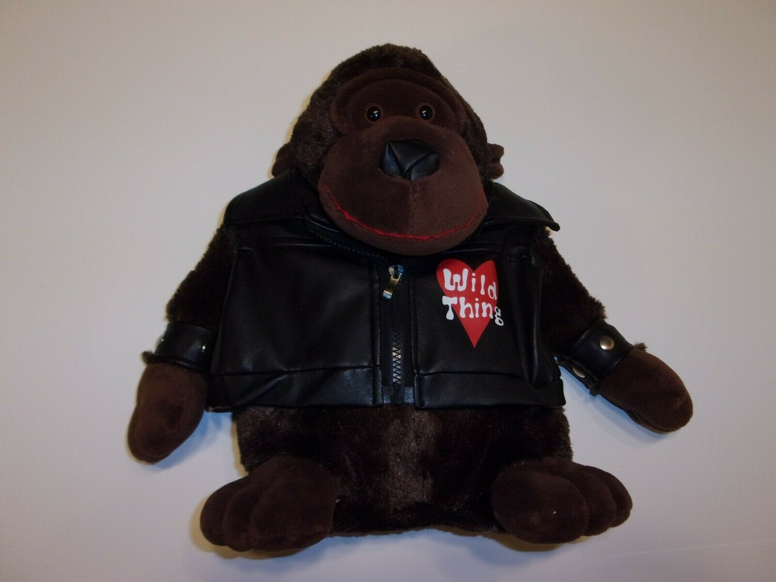 "Primary image for Dan Dee 12"" Wild Thing Gorilla Plush Toy Doll in Faux Leather Jacket"