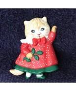 Christmas Cat Pin - $3.99