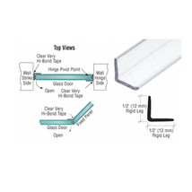 CRL Multi-Purpose Polycarbonate Clear L-shape Angle Jamb with Pre-Applie... - $49.95