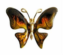 Vintage Emmons Enameled Butterfly Brooch Pin - $28.00