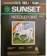 Vintage Sunset Designs Needlepoint Kit The Unicorns Rainbow Linda Gillum... - $16.40