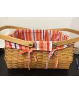 Basket Picnic Organize outdoor wicker bin woven Food storage Container C... - $29.69