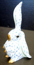 Blue Herend Fishnet Rabbit One Ear Up Figurine - $75.99