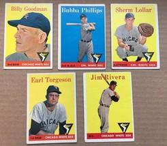 1958 Topps Chicago White Sox Baseball Card Lot of 5 VG/VG+ RF1 - $8.99