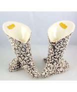 Royal Haeger R 1285 midcentury White Stone Lace calla Lily candle holders - $30.00