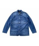 Levis Red Tab Mens L Blue Denim Stone Wash Utility Engineer Coat Workwea... - $121.60