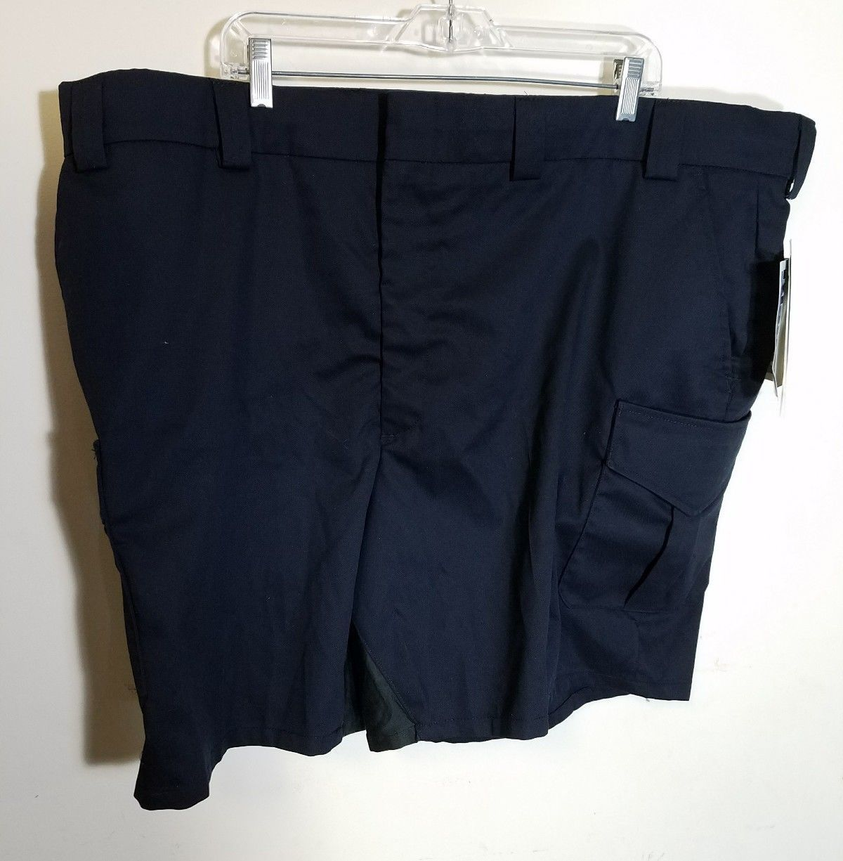 BLAUER STREET GEAR UNISEX SHORTS SIZE 48 NAVY BLUE TWILL COTTON LYCRA STRETCH