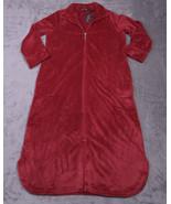 NOIRE JASMINE ROSE Womens Full Zip HOUSECOAT BATHROBE ROBE Size Large L ... - $56.31