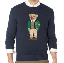 Polo Ralph Lauren Men's Bear Sweater, Blue, Size Medium, 3544-8 - $277.19